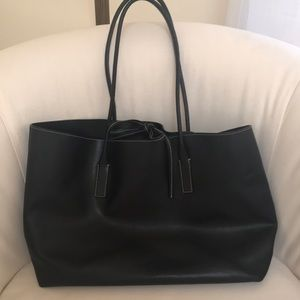 Prada leather tote with coin purse